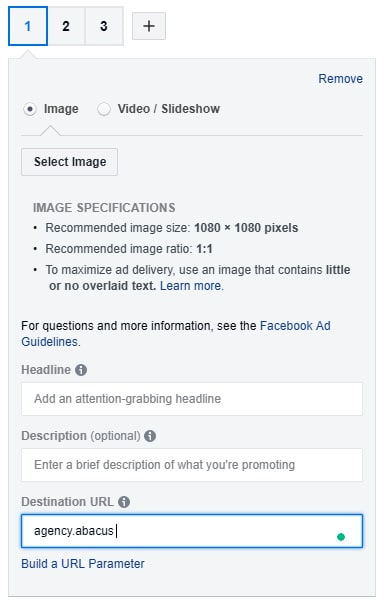 instagram ad creative image specifications
