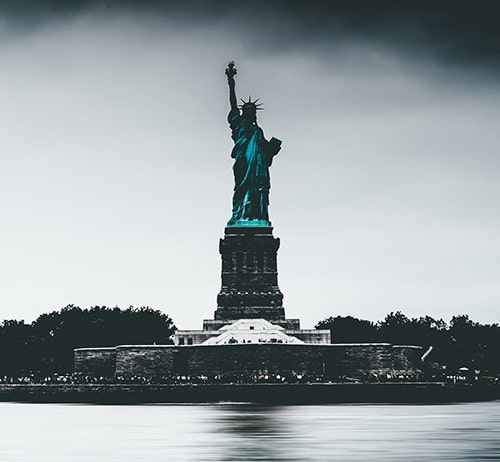 The Statue of Liberty - 305 feet tall