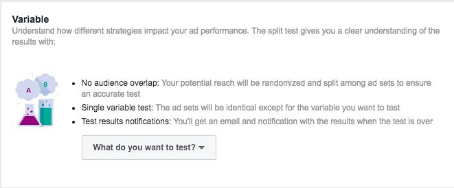 split test ad variables